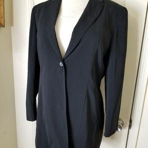 NORTON MCNAUGHTON black single button blazer